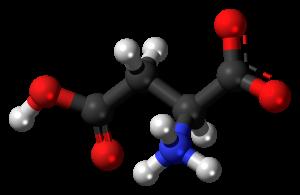 L-Aspartic-acid-zwitterion-3D-balls